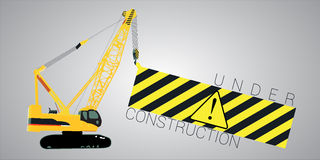 Under construction message Stock Image