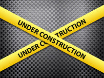 Under construction metal background Royalty Free Stock Photos