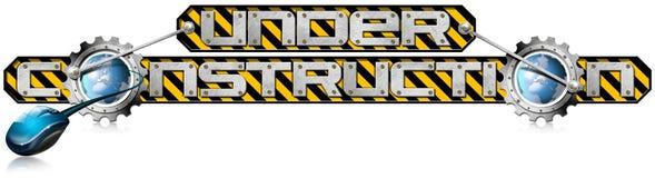 Under Construction Metal Gears vector illustration