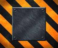 Under Construction Metal Plate Background Royalty Free Stock Images
