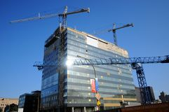 Free Under Construction New Montreal`s Centre Hospitalier Royalty Free Stock Image - 123344106