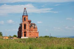 Under construction orthodox church Royalty Free Stock Images