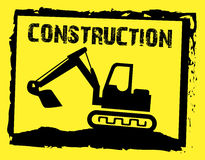 Under construction. Over yellow background vector illustration Royalty Free Stock Photos