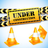 Under construction page with traffic cones. Royalty Free Stock Photo