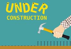 Under construction page sign Stock Image