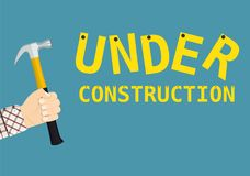 Under construction page sign Royalty Free Stock Image