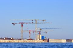 Under construction of Petrochemical plant. Venice Italy stock photos