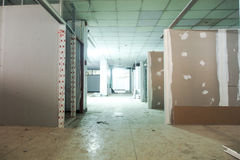 Under construction. Place renovation room Royalty Free Stock Images