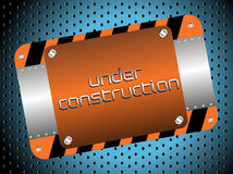 Under construction plate Royalty Free Stock Image