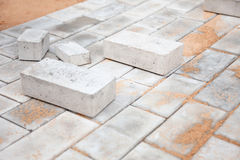Under construction platform from bricks Royalty Free Stock Photography