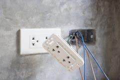 Under construction plug socket Royalty Free Stock Image