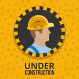 Under construction poster Royalty Free Stock Image