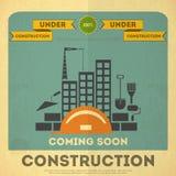 Under construction poster design Stock Photo