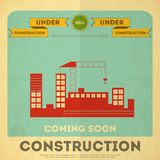 Under construction poster design Stock Photos