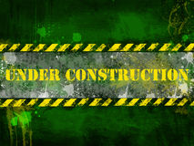 Under construction, poster, symbol. Royalty Free Stock Photos