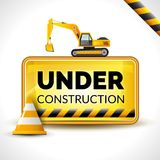 Under Construction Poster Royalty Free Stock Photos