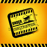 Under construction print Royalty Free Stock Image