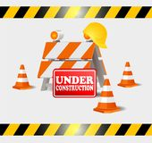 Under construction on progress. Vector icon or symbol sign Royalty Free Stock Photography