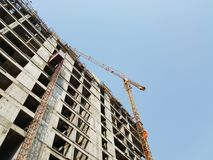 Under Construction Real Estate Site Royalty Free Stock Image