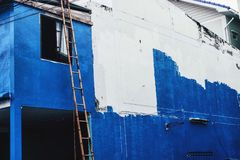 Under construction. The renovate building royalty free stock image