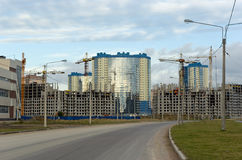 Under construction residential district. In Saint-Petersburg. Russia Royalty Free Stock Image