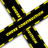 Under Construction Ribbons Royalty Free Stock Photography