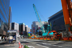 Under Construction road in Japan Royalty Free Stock Photo