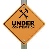 Under construction road sign Royalty Free Stock Photo