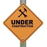 Under construction road sign. 3d Illustration of under construction road sign Royalty Free Stock Photo