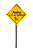 Under construction road sign. Stock Photography
