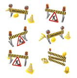 Under construction and road work Royalty Free Stock Images
