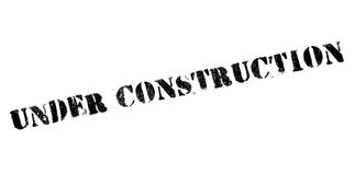 Under construction rubber stamp Stock Photo