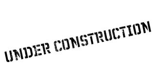 Under construction rubber stamp Royalty Free Stock Images