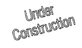 Under Construction rubber stamp Stock Photography