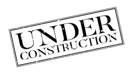 Under Construction rubber stamp Royalty Free Stock Photography