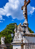 Statue of Jesus Christ, Palace of the Popes,Avignon. Statue of Jesus Christ in front of Palace of the Popes,Avignon Royalty Free Stock Photography