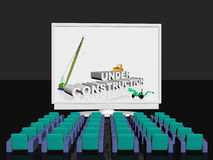 Under construction on screen royalty free illustration