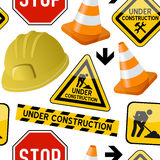 Under Construction Seamless Pattern Royalty Free Stock Images