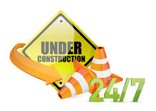 Under construction service sign i Stock Photos
