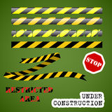 Under construction set Royalty Free Stock Images