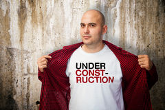 Under construction shirt Stock Image