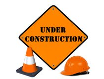 Under construction sign Royalty Free Stock Photography