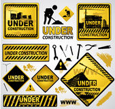 Under construction sign Stock Images