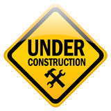 Under construction sign. Illustration of under construction sign Royalty Free Stock Photo
