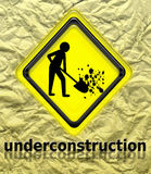 Under construction sign Stock Image