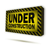 Under construction sign. On white Royalty Free Stock Photos