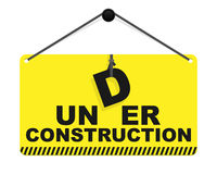 Under construction sign. Vector illustration Royalty Free Stock Photography