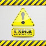 Under construction sign Stock Photo