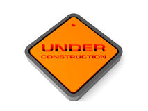 Under construction sign. 3d. Royalty Free Stock Photos