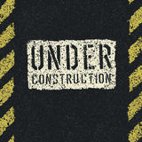 Under construction sign background. Stock Photography